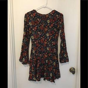 NWOT AEO Floral Print Bell-sleeve Dress
